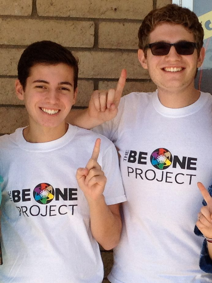 Matthew and a participant of The BeONE Project