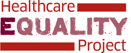 "a logo that reads ""healthcare equality project"""