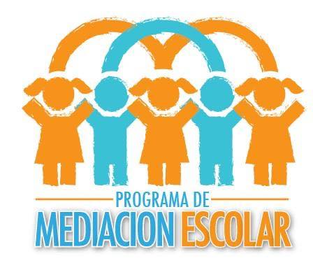 "A logo of children holding hands which reads ""programa de mediacion escolar"""