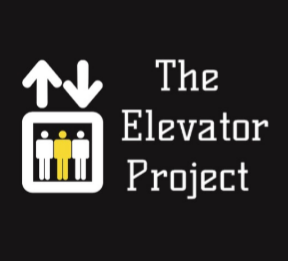 "A logo of an elevator that reads ""the elevator project"""