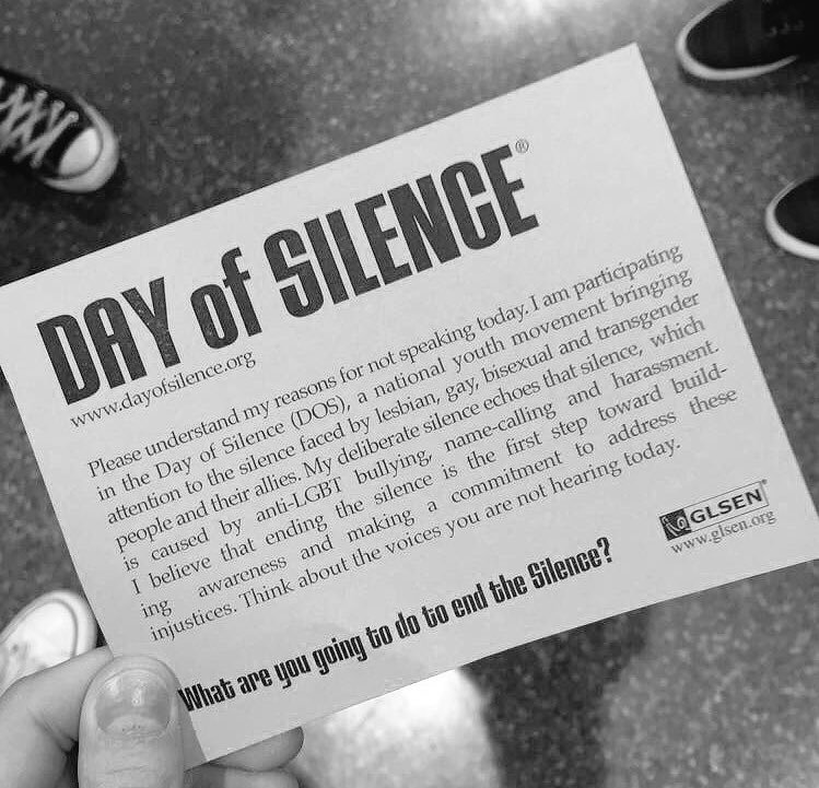 Day of Silence card: What are you going to do to end the silence?