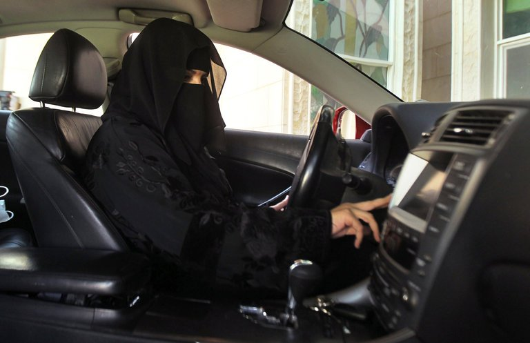 Saudi woman driving in protest PHOTO CREDIT - AP