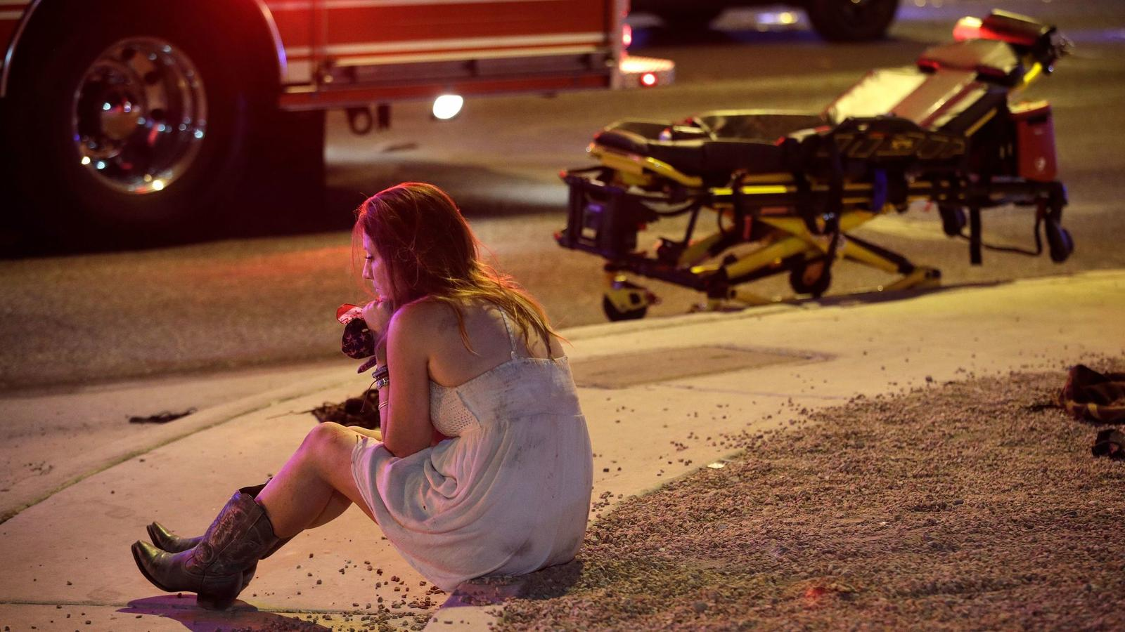 Mass shooting aftermath in Las Vegas - PHOTO CREDIT - John Locher, Associated Press