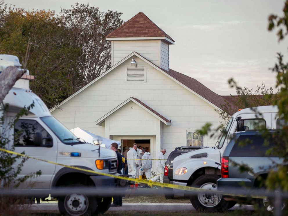 Site of the Texas church shooting