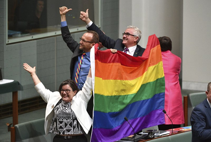 Same-sex marriage passes in Australia via AP