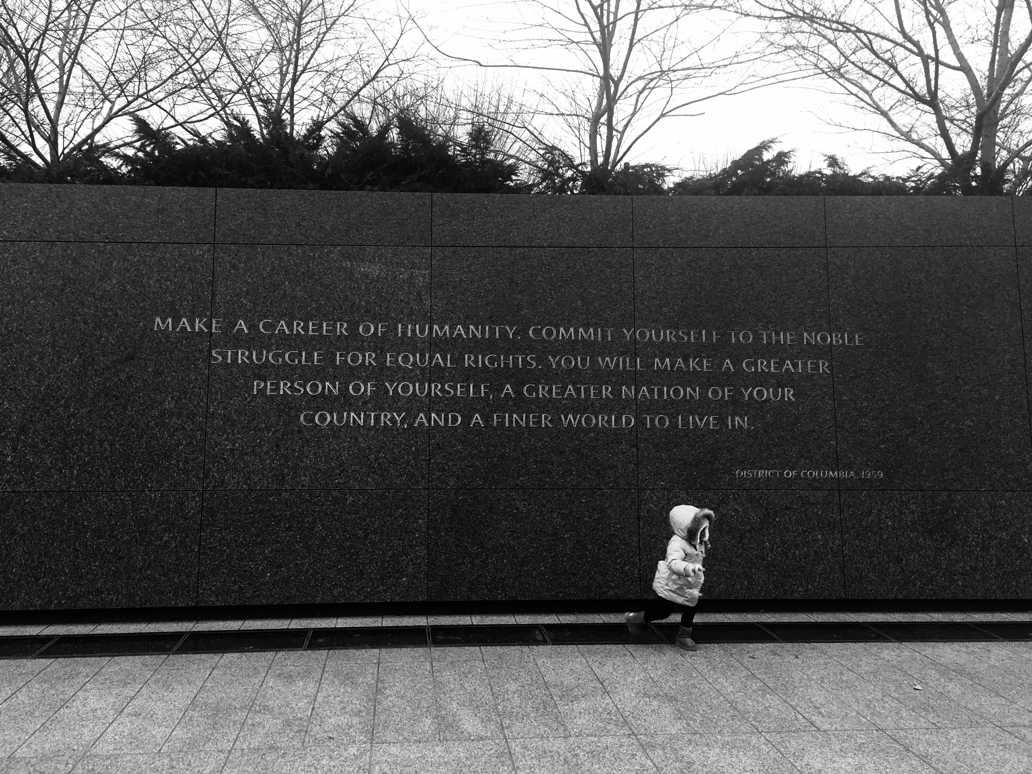 MLK Memorial and quote