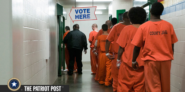 Inmates lining up to vote