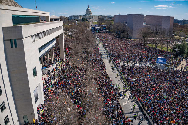 An aerial view of marchers on Capitol Hill.  DIGITAL DESIGN & IMAGING SERVICE INC