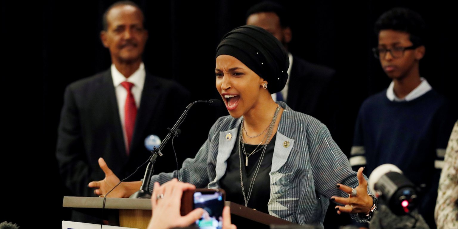 Ilhan Omar is one of the first two Muslim women elected to Congress. Reuters