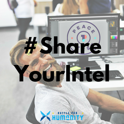 #ShareYourIntel campaign graphic