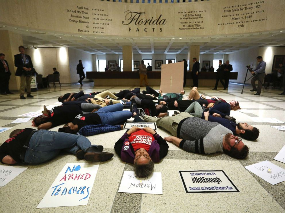Students protest gun violence at Florida state capitol