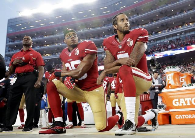 NFL players kneeling during the national anthem