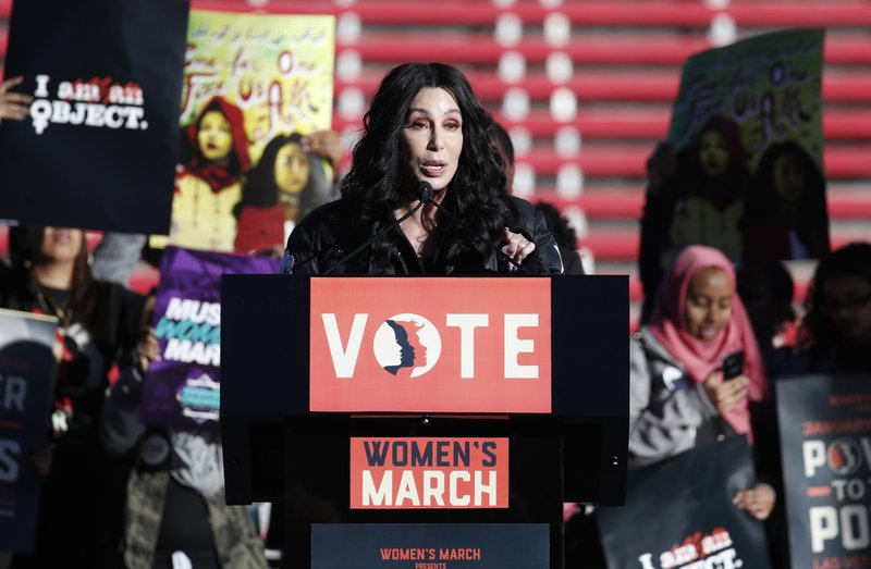 Cher at the Women's March 2018