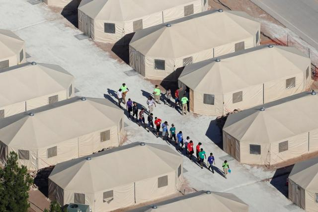Migrant tents in Tornillo, TX