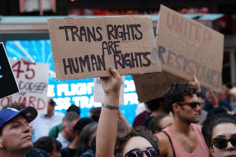 Transgender rights are human rights - Protest in NYC