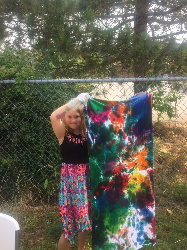 A beautiful tie-dyed blanket