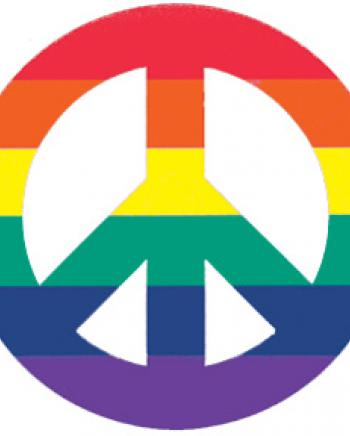 because it represents LGBTQ+ community, and peace!