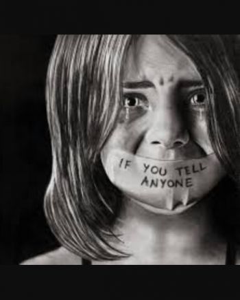 About the image I have choose is about a child who is abuse and have fear of speaking out.