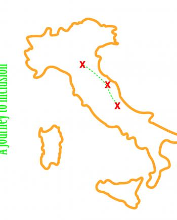 We want to represent the journey we'll make across three different Italian regions: Emilia-Romagna, Marche and Abruzzo.